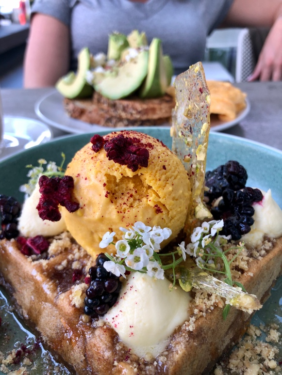 gingerbread waffle at Kettle Black in Melbourne, VIC