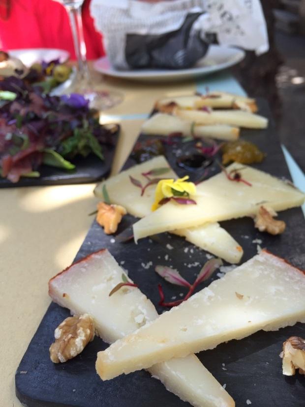 Cheese course at Mama Bistro in Sevilla, Spain