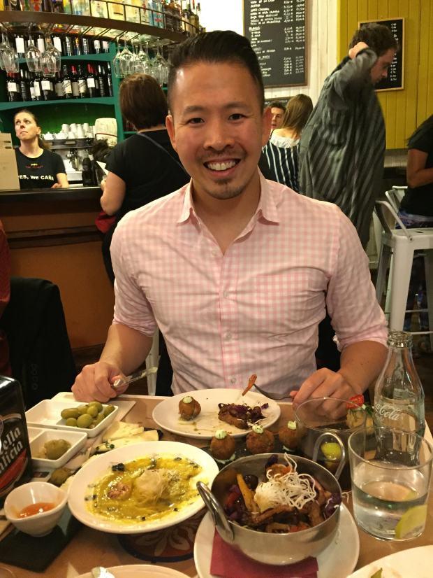 Celebratory dinner at La Bartola in Sevilla, Spain