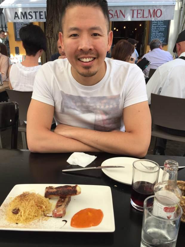 Eating outside in Sevilla, Spain